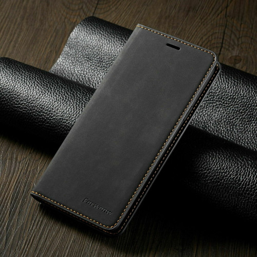 For Samsung S21  black Leather Wallet Flip Case Card Stand Shockproof Cover