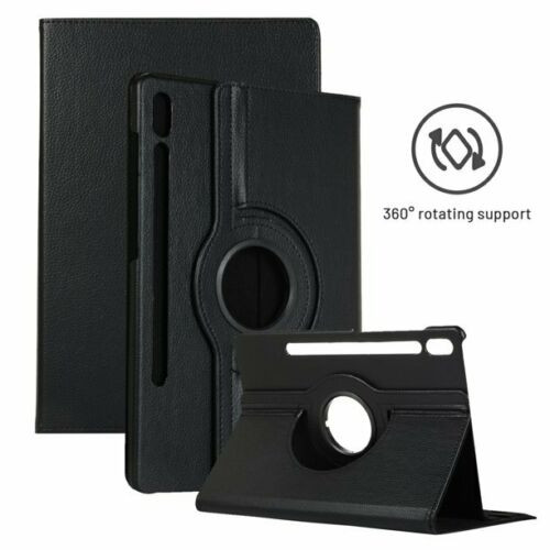Samsung Galaxy Tab S7 Plus 12.4 T970/T975 Leather 360 Rotating Stand black Case Cover