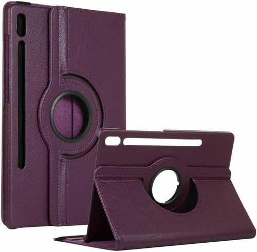 Samsung Galaxy Tab S7 Plus 12.4 T970/T975 Leather 360 Rotating Stand purple Case Cover