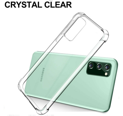 For Samsung A50 Clear Phone Case Shockproof Silicone Gel Cover