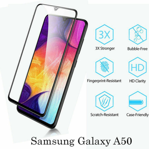 For Samsung A50 9D Full Cover Tempered Glass Screen Protector