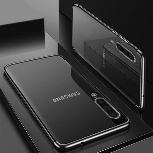 Black Shockproof Silicone Gel Case for Samsung Galaxy A50