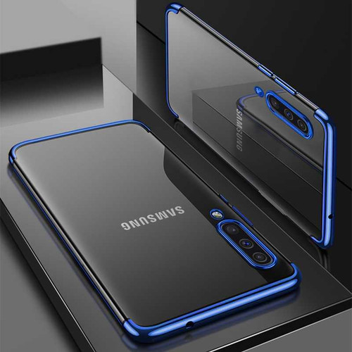 Blue Shockproof Silicone Gel Case for Samsung Galaxy A50
