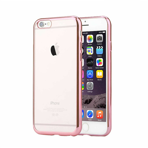 iPhone 6S & 6 Case Shock Proof Silicone Clear Gel rose gold Cover Slim Screen Protector
