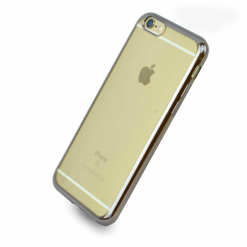 iPhone 6S & 6 Case Shock Proof Silicone Clear Gel silver Cover Slim Screen Protector