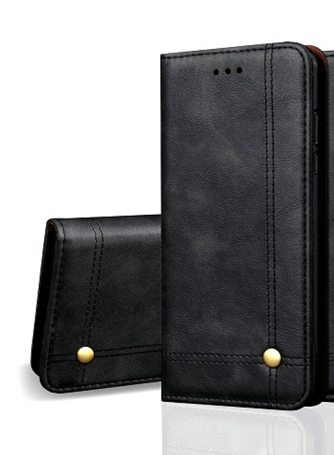 Vintage Real Leather  black Wallet Flip Case For Samsung Galaxy s21 plus