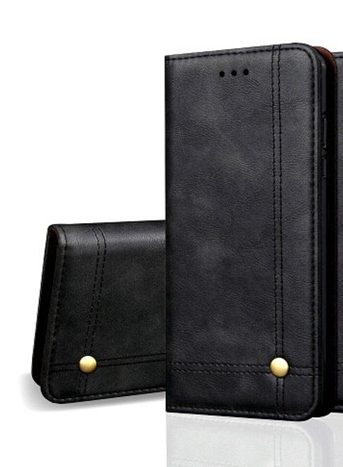 Vintage Real Leather  black Wallet Flip Case For Samsung Galaxy s21