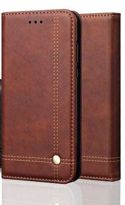 Vintage Real Leather  brown Wallet Flip Case For Samsung Galaxy s21 ultra