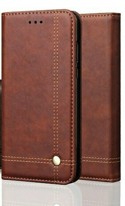 Vintage Real Leather  brown Wallet Flip Case For Samsung Galaxy s20
