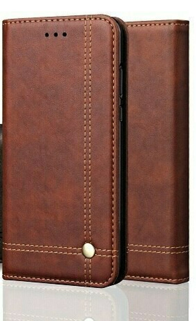 Vintage Real Leather  brown Wallet Flip Case For Samsung Galaxy s20 ultra