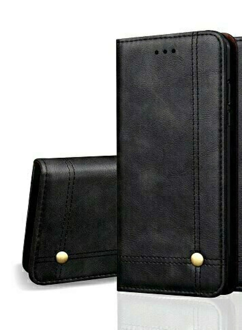 Vintage Real Leather  black Wallet Flip Case For Samsung Galaxy s20 plus