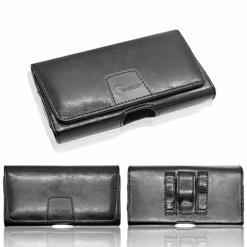Luxury Leather Holster Belt Pouch Twin Loop Designer Protective Case For Samsung galaxy a50 black