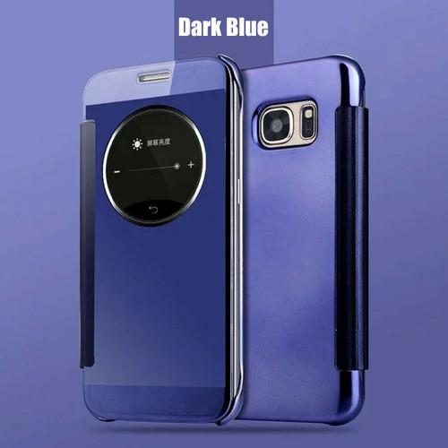 Blue Samsung Galaxy S6 Edge  Smart View Mirror Flip Phone Cover