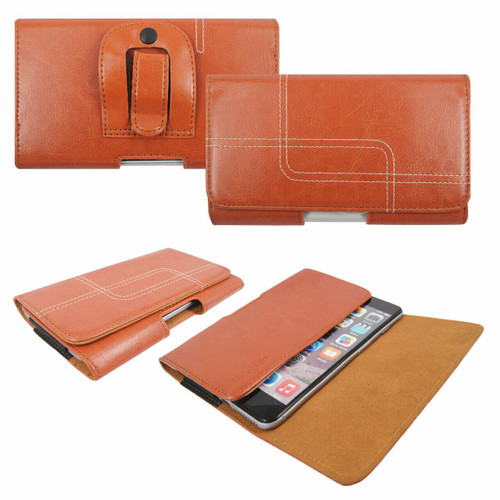 Light  Brown Belt Pouch Clip Hip Loop Case  for note 10