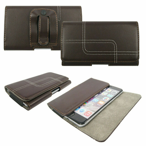 Brown Belt Pouch Clip Hip Loop Case  for note 20