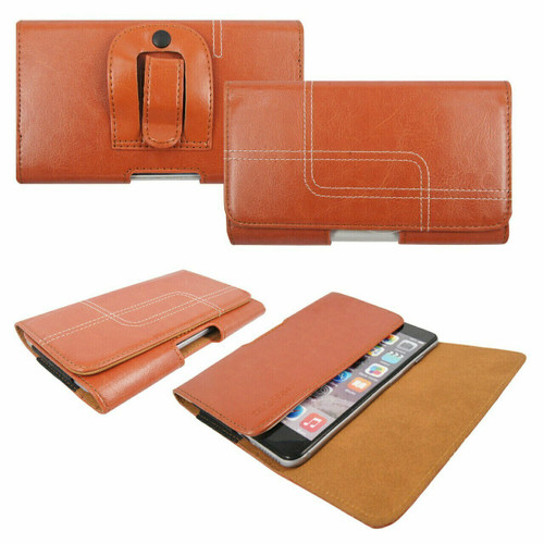 Light  Brown Belt Pouch Clip Hip Loop Case  for note 20