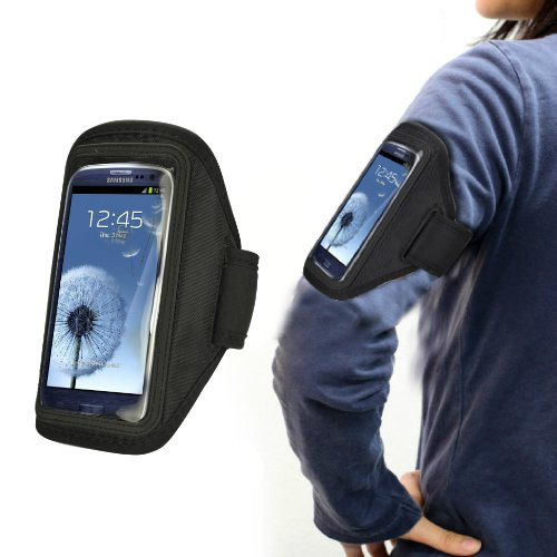 Black Sports Armband Case for Samsung Galaxy S4
