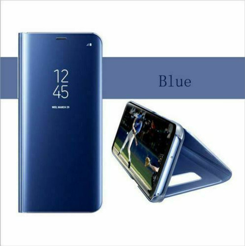 Blue Smart Mirror View Flip Leather 360 Case Cover For Samsung Note 20 ultra