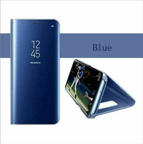 Blue Smart Mirror View Flip Leather 360 Case Cover For Samsung Note 20