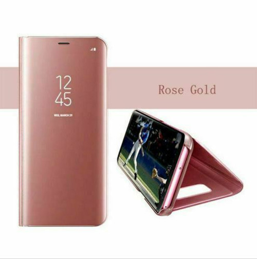 Rose gold Smart Mirror View Flip Leather 360 Case Cover For Samsung Note 20