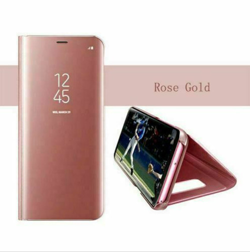 Rose gold Smart Mirror View Flip Leather 360 Case Cover For Samsung Note 20 ultra