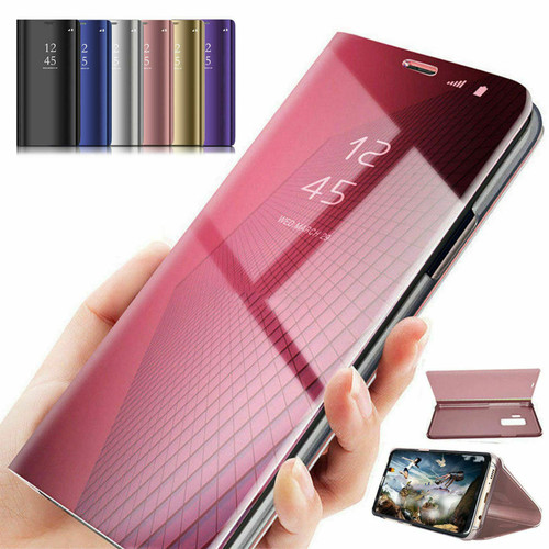 Purple Smart Mirror View Flip Leather 360 Case Cover For Samsung Note 20 ultra