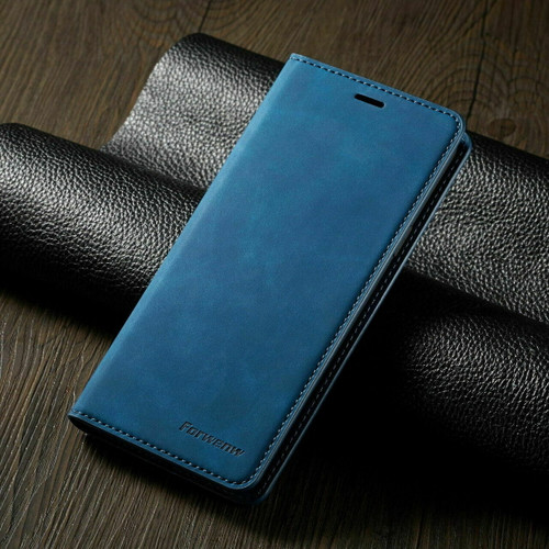 For Samsung A71 2020 blue Leather Wallet Flip Case Card Stand Shockproof Cover
