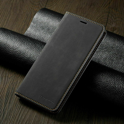For Samsung A71 2020  black Leather Wallet Flip Case Card Stand Shockproof Cover