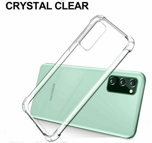 For Samsung A41 2020 Clear Phone Case Shockproof Silicone Gel Cover