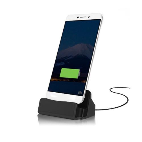 Black USB 3.1 Type-C Charging Station Charger Data  Desktop Dock For S8