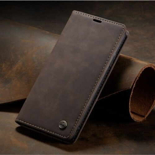 Dark brown  Samsung A41 2020   Leather Flip Wallet Stand Cover