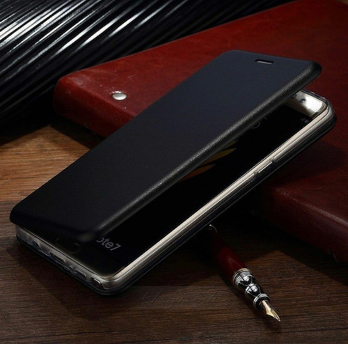 Luxury  black Shockproof Leather Flip Wallet Case  For Apple iPhone  5c