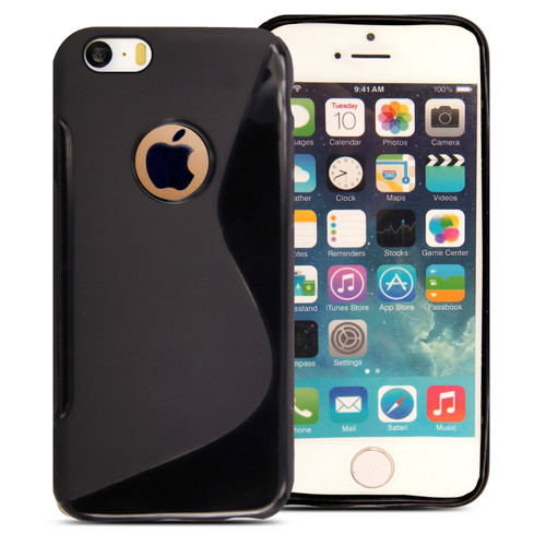 Rubber Silicone Gel Phone black Case  For Apple iPhone 5c