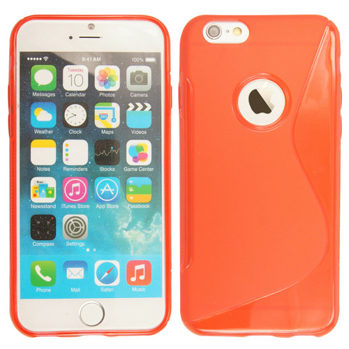 Rubber Silicone Gel Phone red Case  For Apple iPhone 5c