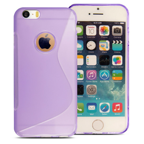 Rubber Silicone Gel Phone purple Case  For Apple iPhone 5c