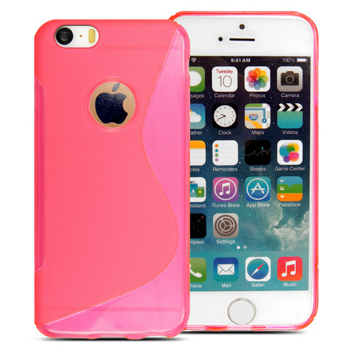 Rubber Silicone Gel Phone pink Case  For Apple iPhone 5c
