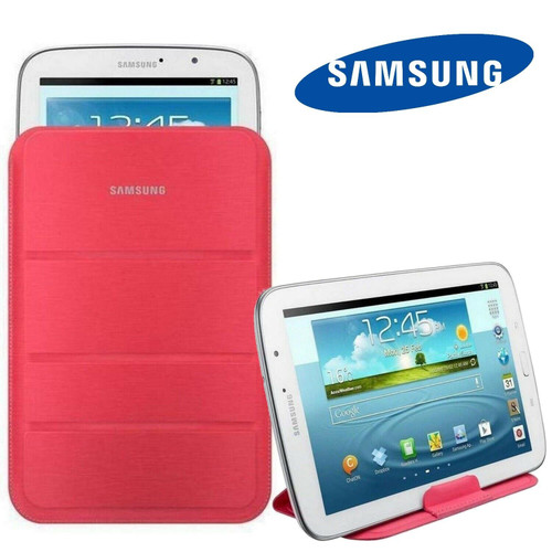 "GENUINE Samsung Galaxy Tab 3 10.1"" Slim Tablet Stand Pouch Cover Carrying Case N"