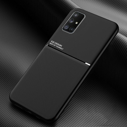 For Samsung A21s 2020  Shockproof Silicone  black Case + Tempered Glass