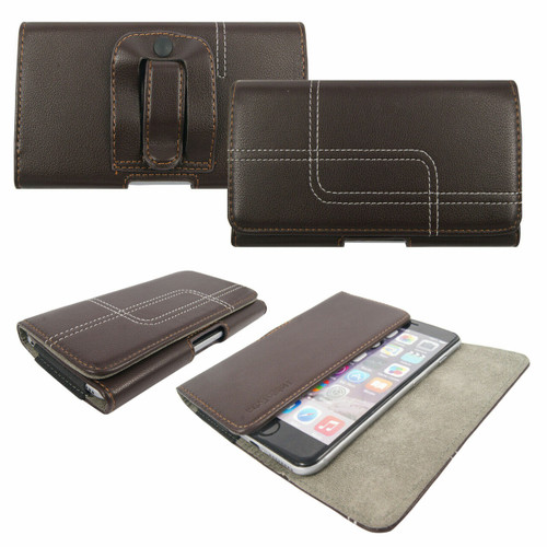 Brown Belt Pouch Clip Hip Loop Case  for samsung galaxy A21s 2020