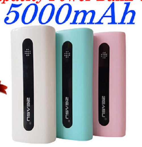 Blue Power Bank 5000mAh E5 Portable Charger Mini for iPhone iPad Cameras