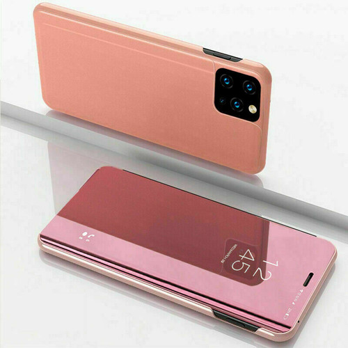 Samsung A21s 2020  rose gold  View Mirror Flip Stand Phone Case