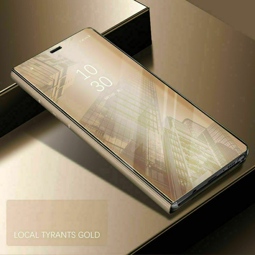 Samsung A21s 2020  gold  View Mirror Flip Stand Phone Case