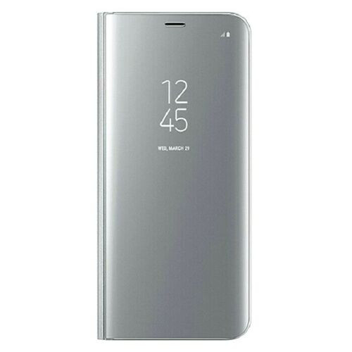Samsung A21s 2020  silver view Mirror Flip Stand Phone Case