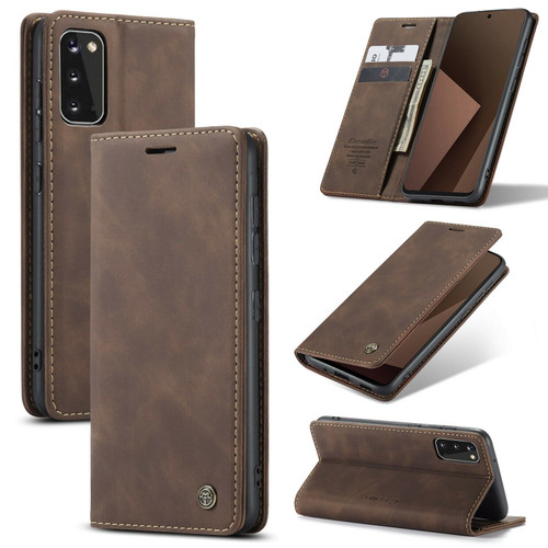 Coffee Samsung galaxy j2 Core 2020 Luxury Leather Wallet Flip Cover