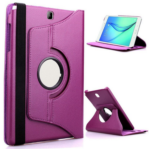 Purple PU Leather 360° Rotate Stand Case For Samsung Galaxy Tab S 8.4in SM-T700 SM-T705