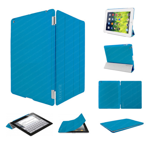Blue Ultra Slim Smart Case for iPad 2/3/4 + Stylus + Screen Protector