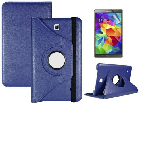 Navy PU Leather 360° Rotate Stand Case For Samsung Galaxy Tab S 8.4in SM-T700 SM-T705