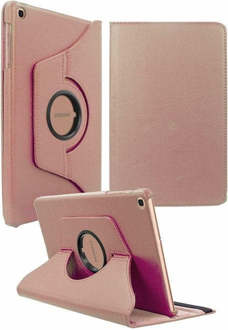 "Rose gold 360 Rotation Leather Case Stand Cover For Samsung Galaxy Tab E 9.6"" SM-T560 T565"