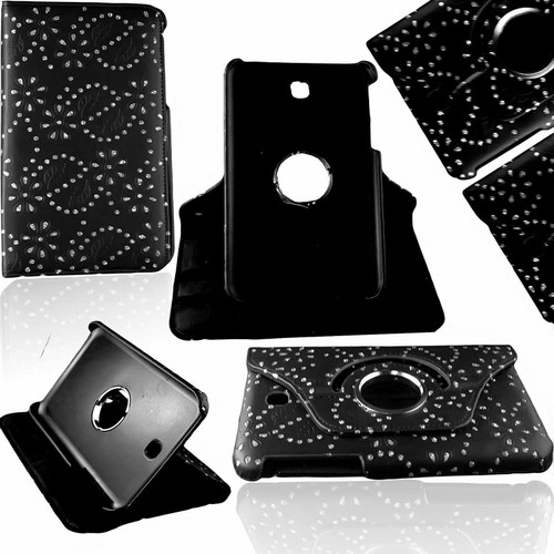 "Black diamond  360 Rotation Leather Case Stand Cover For Samsung Galaxy Tab E 9.6"" SM-T560 T565"