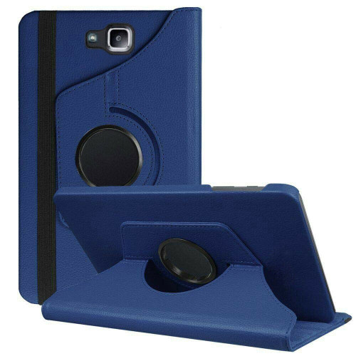 "Navy 360 Rotation Leather Case Stand Cover For Samsung Galaxy Tab E 9.6"" SM-T560 T565"